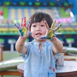 peinture sur porcelaine enfants