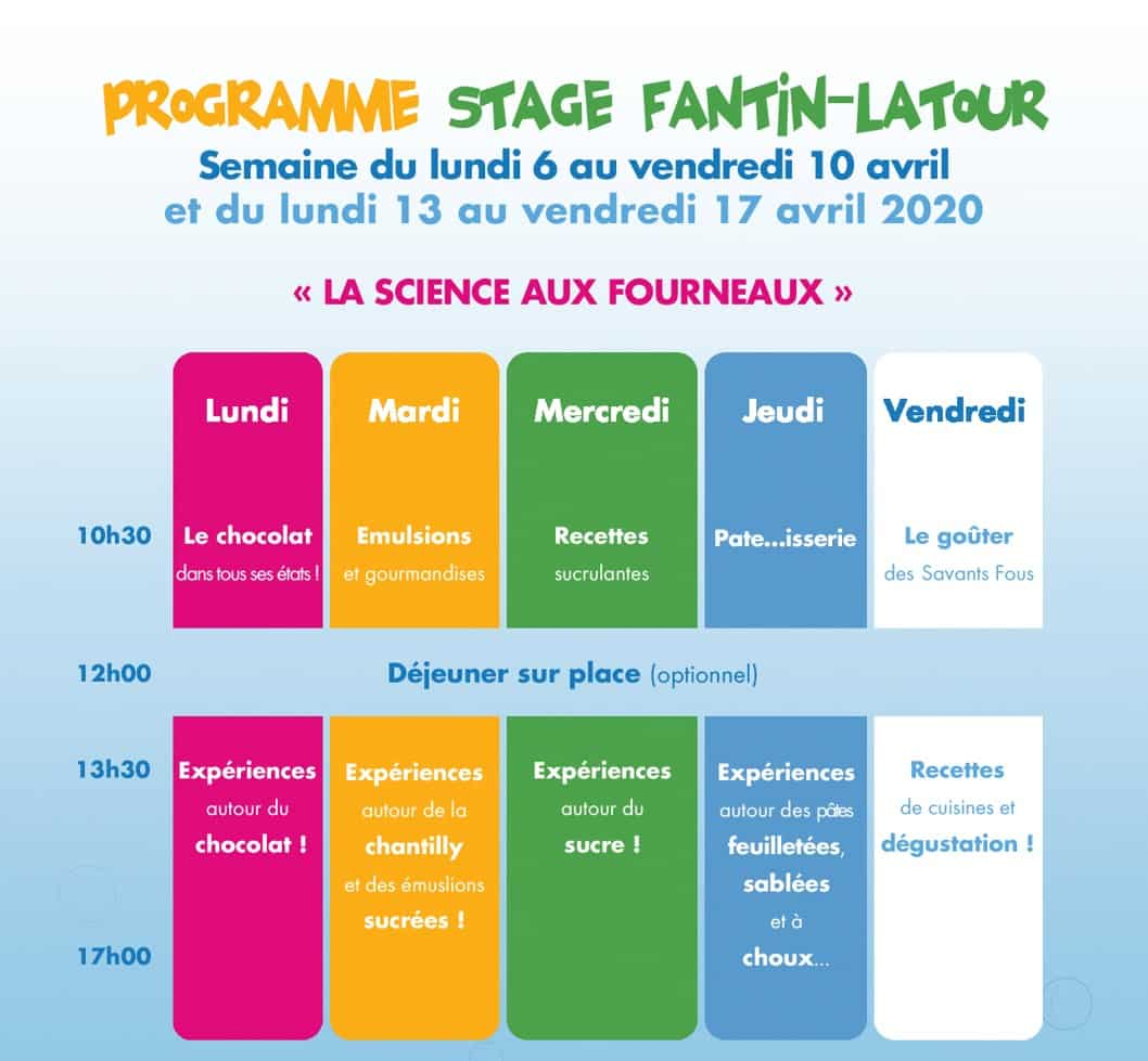 stage savant paques 2020