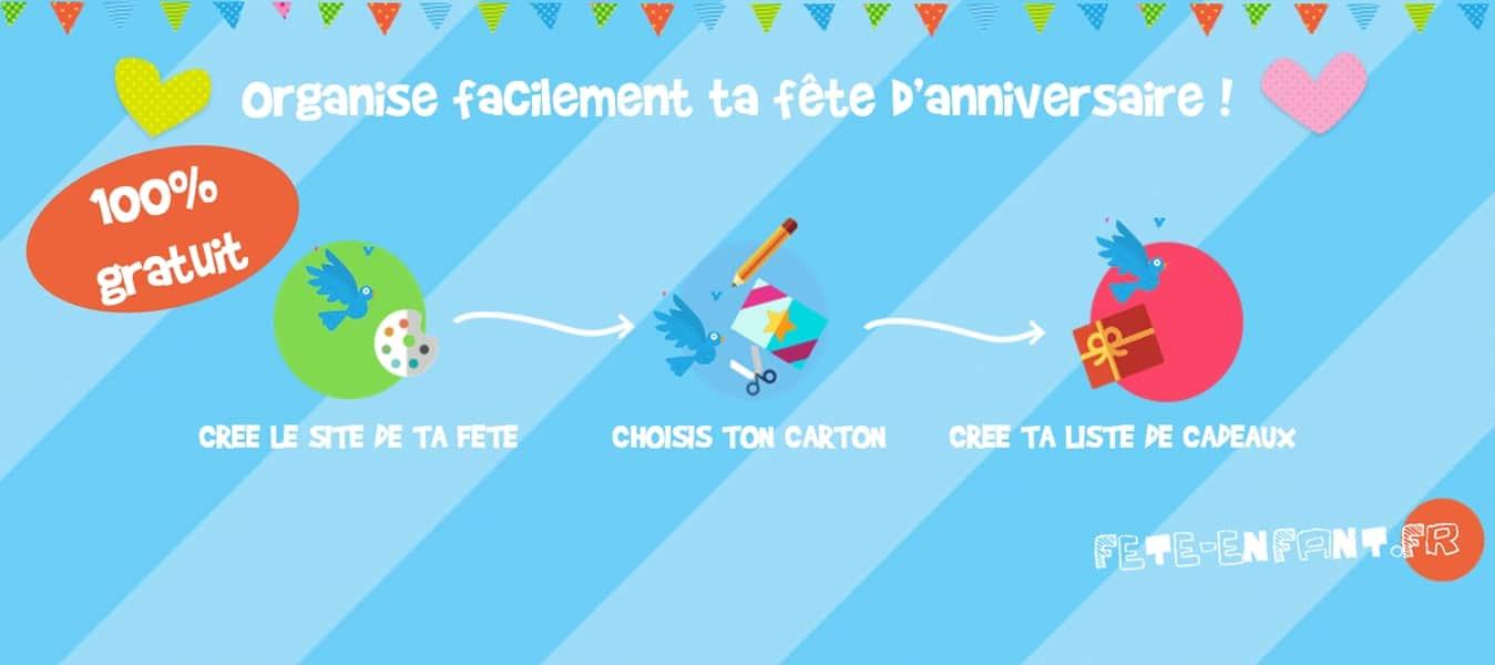 Vos cartons d'invitation gratuits avec fete-enfant.fr