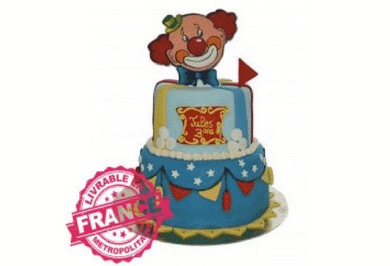 gateau clown anniversaire enfant