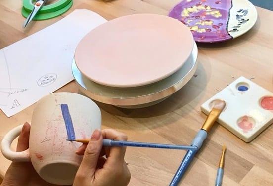 une_anniversaire peinture ceramique_biscuit